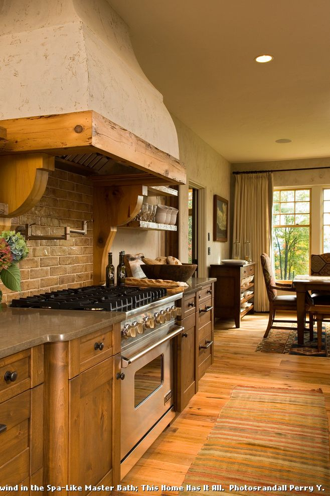 Country Ventahood  for Rustic Kitchen and Stucco Oven Hood