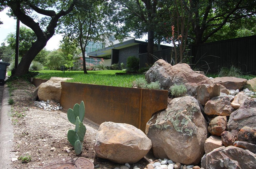 Country Ventahood  for Rustic Landscape and Steel Retaining Wall