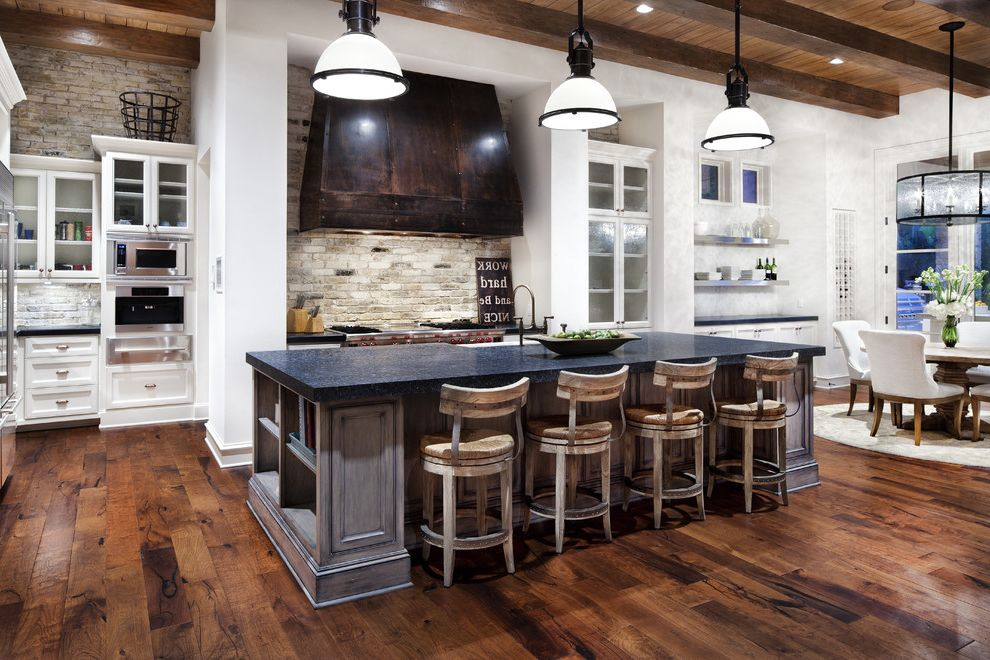 Country Ventahood  for Traditional Kitchen and Pendant Lighting