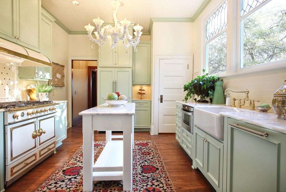 Country Ventahood  for Victorian Kitchen and Green Cabinets