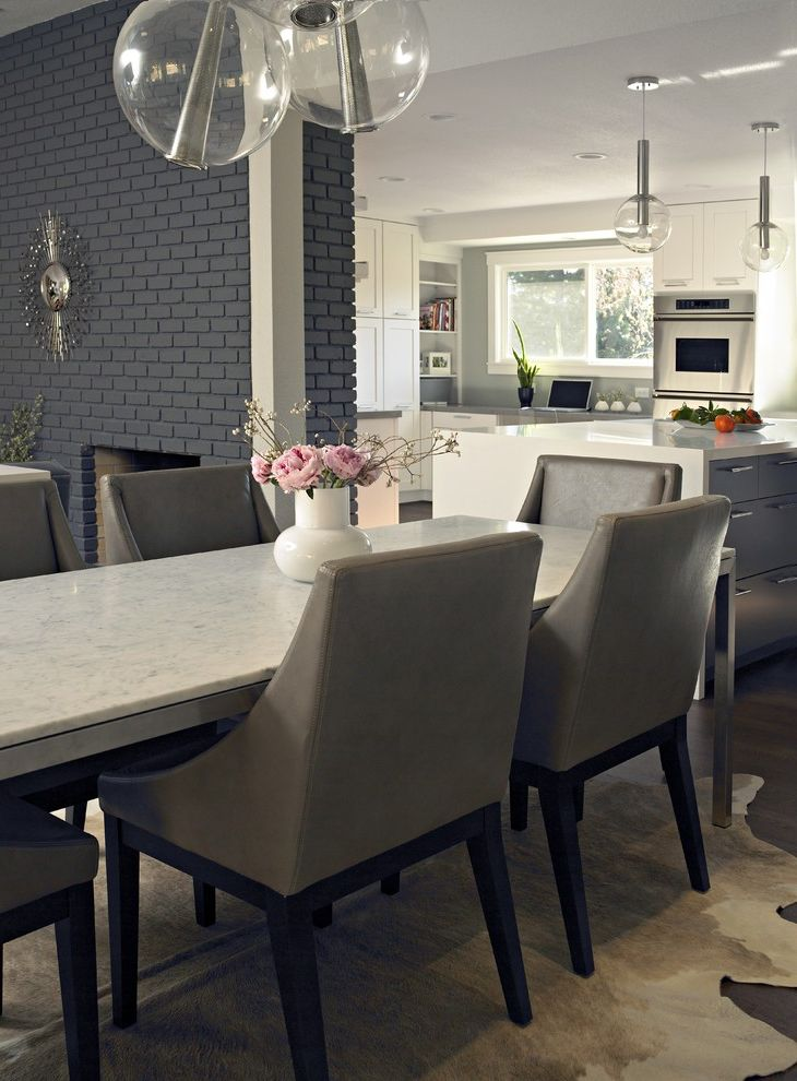 Dining Room Brick 2015 for Contemporary Dining Room and Globe Light