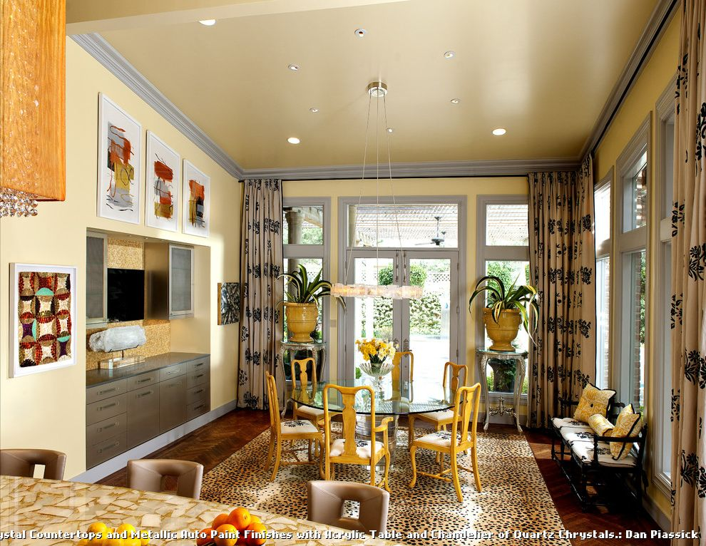 Dining Room Brick 2015 for Contemporary Kitchen and Acrylic Base Table