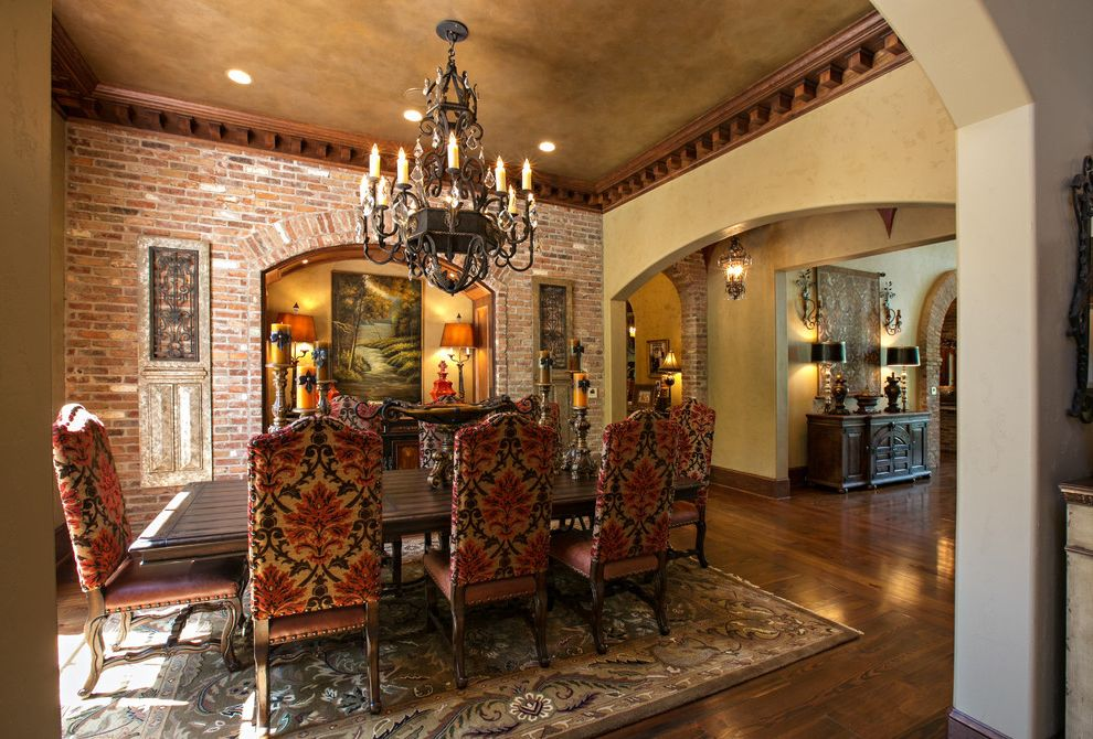 Dining Room Brick 2015 for Mediterranean Dining Room and Table Lamps