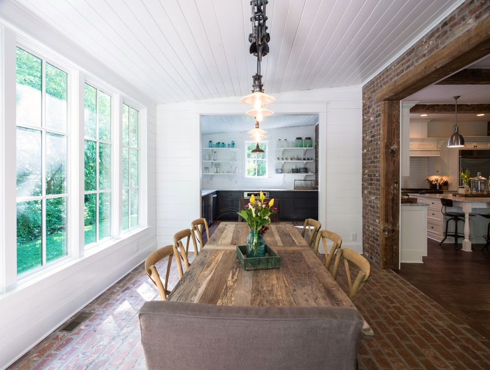 Dining Room Brick 2015 for Traditional Dining Room and Island
