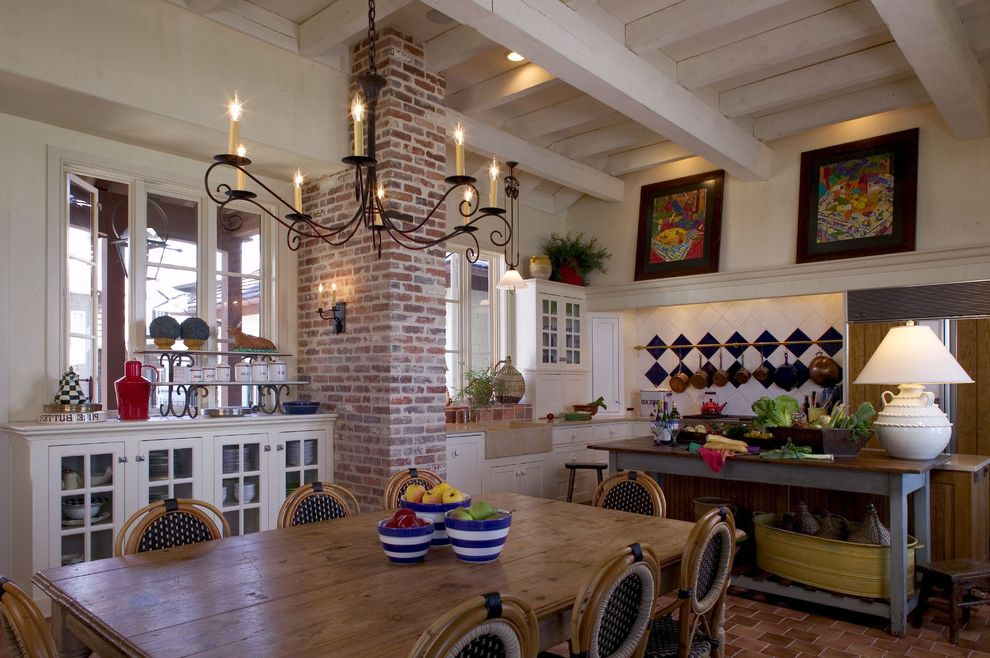Dining Room Brick 2015 for Tropical Dining Room and Casement Windows