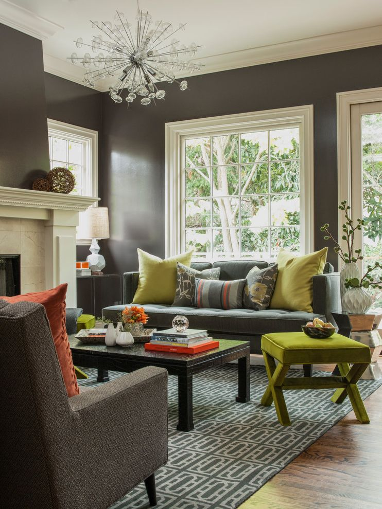 Drop Leaf Table Living Room  for Transitional Living Room and Orange
