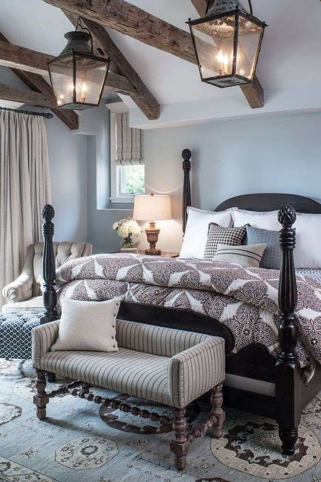 Dunn Edwards Bedroom  for Beach Style Bedroom and Warm Wood Finishes