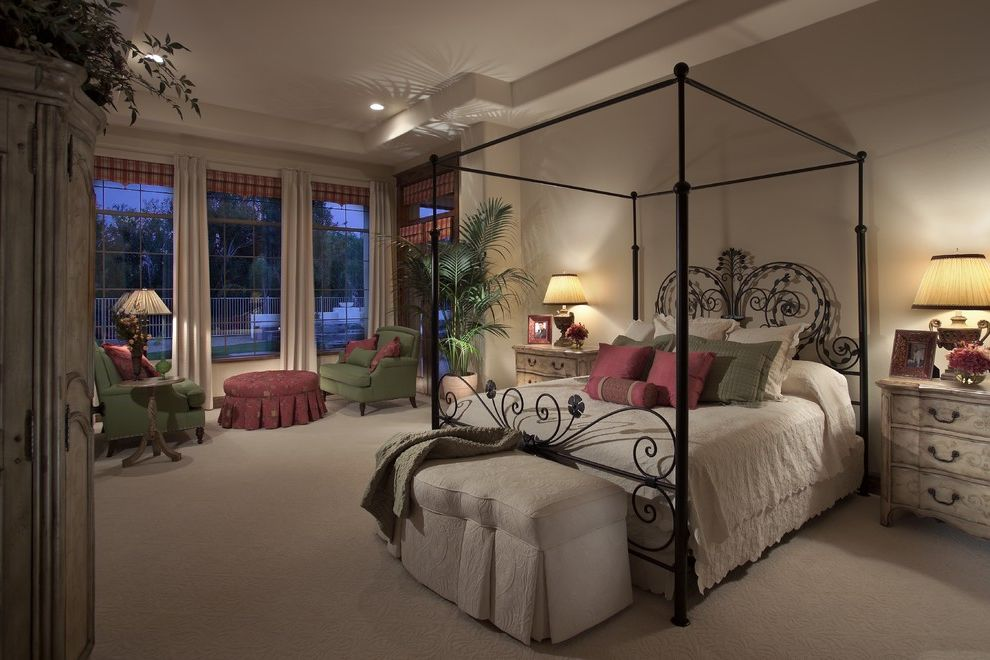 Dunn Edwards Bedroom  for Mediterranean Bedroom and Potted Plant