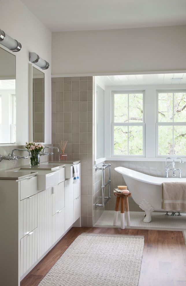 Farmhouse Sink Bathroom  for Farmhouse Bathroom and Flat Panel Cabinets