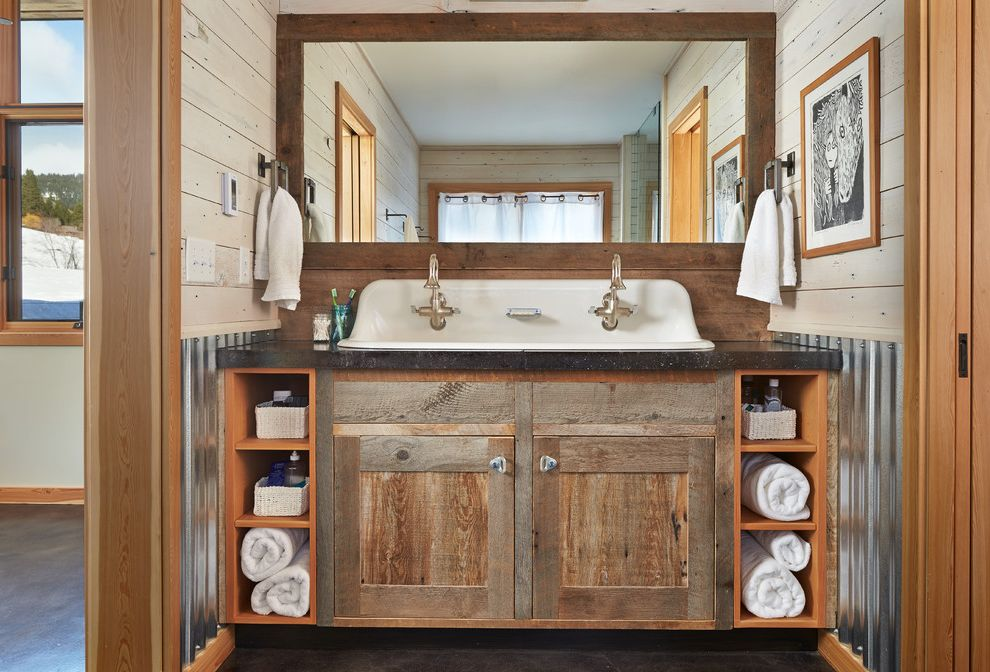 Farmhouse Sink Bathroom  for Rustic Bathroom and Vanity