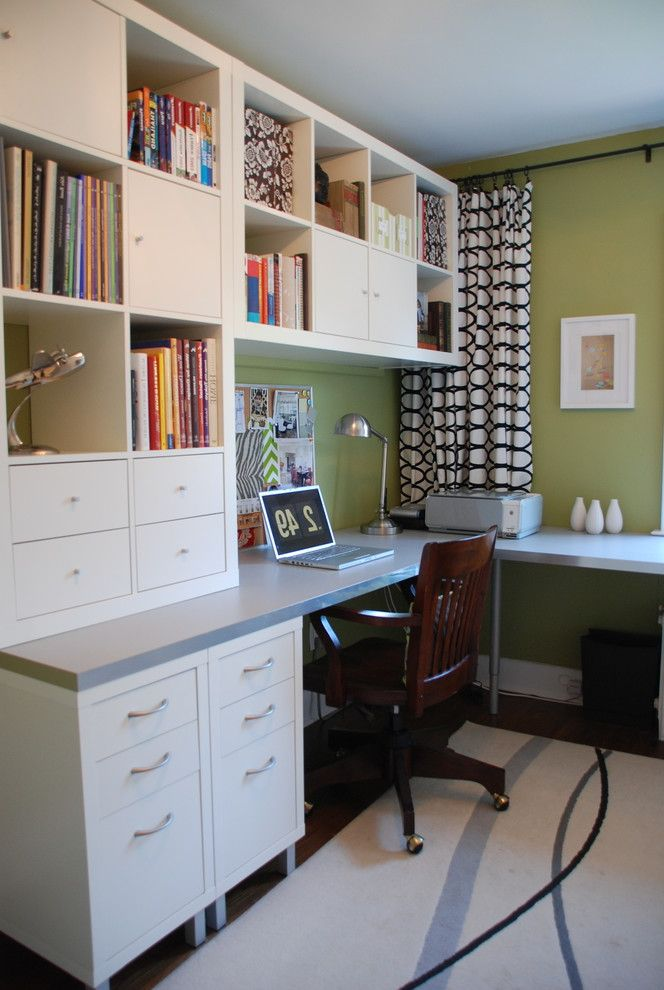 Ikea Houzz for Contemporary Home Office and Swing Arm Lamp