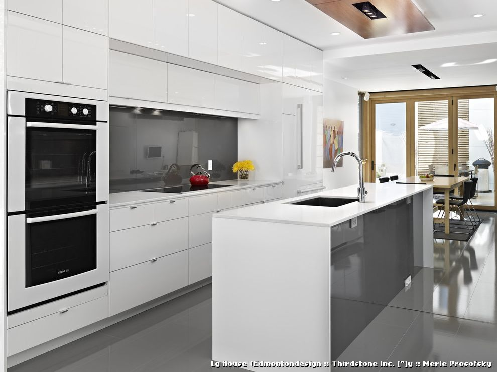 Ikea Houzz for Contemporary Kitchen and Double Oven