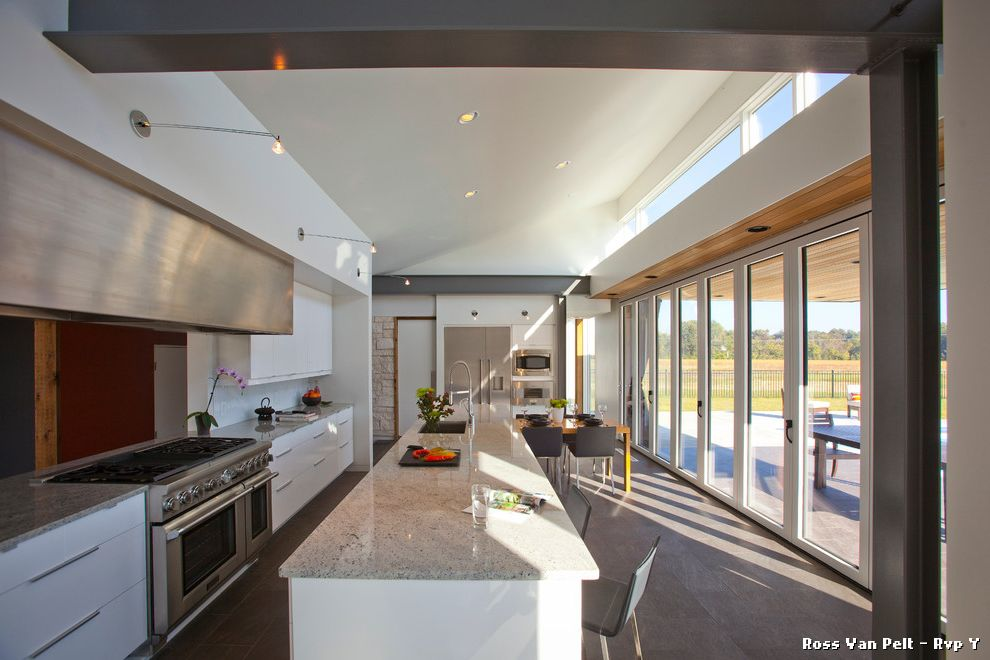 Kitchens with Clerestory Windows  for Modern Kitchen and Gray Countertop