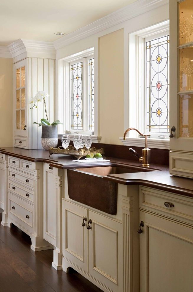 Kitchens with Utility Sinks for Traditional Kitchen and Crown Molding