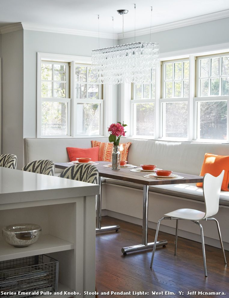 Modern Banquette Seating  for Transitional Kitchen and Rye New York
