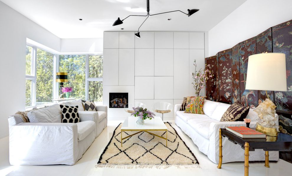Modern Besta  for Contemporary Living Room and Moroccan Rug