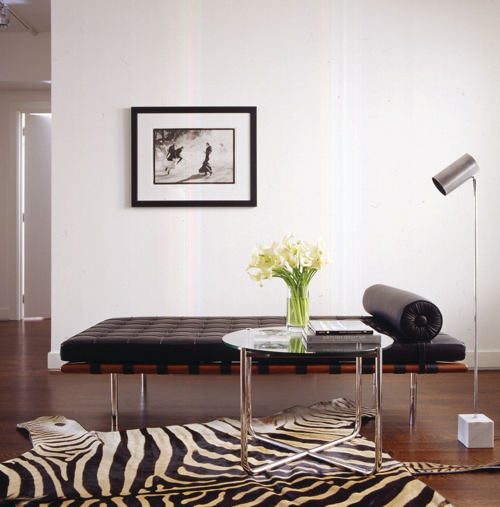 Modern Daybed with Trundle  for Modern Living Room and Glass Side Table