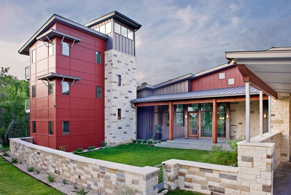 Modern Stone Veneer  for Contemporary Exterior and Austin Texas
