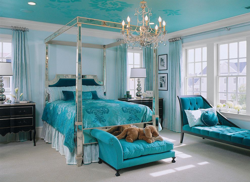 Ms Bed  for Traditional Bedroom and Chandelier