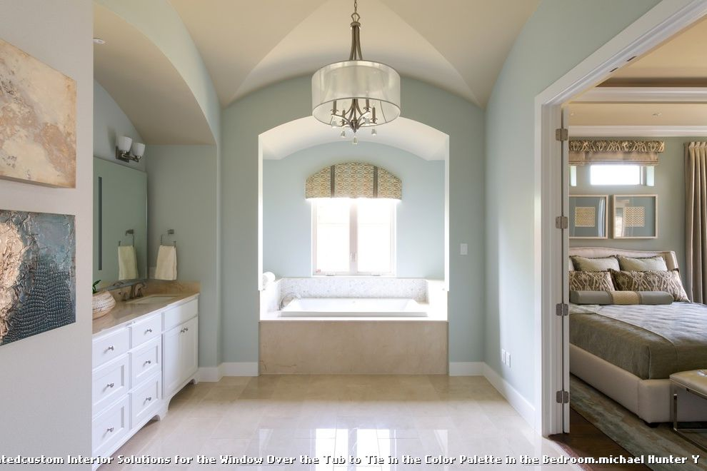 Ms Bed  for Transitional Bathroom and Bathroom Pendant