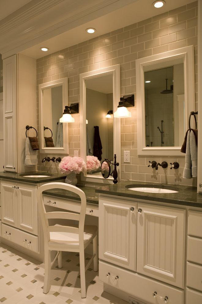 Puck Lighting for Makeup  for Traditional Bathroom and Bathroom Lighting