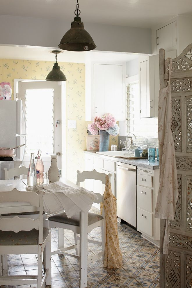Shabby Chic Bookshelf for Shabby Chic Style Kitchen and Eclectic