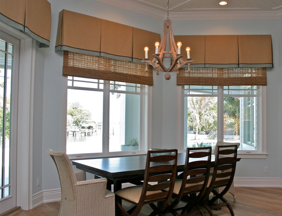 Valences for Beach Style Kitchen and Bay Window