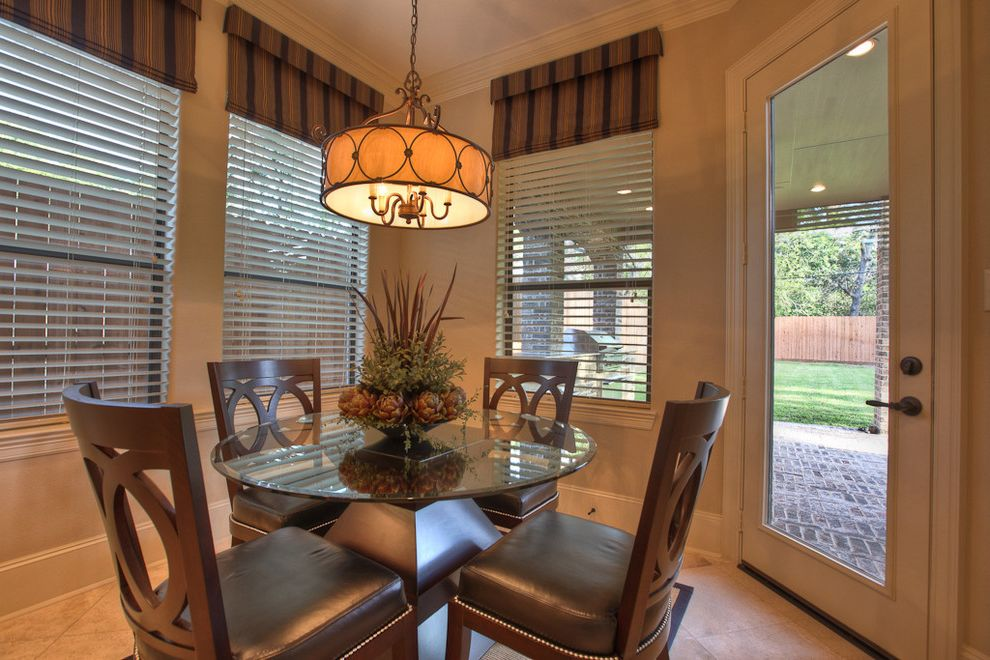 Valences for Traditional Dining Room and Glass Dining Table