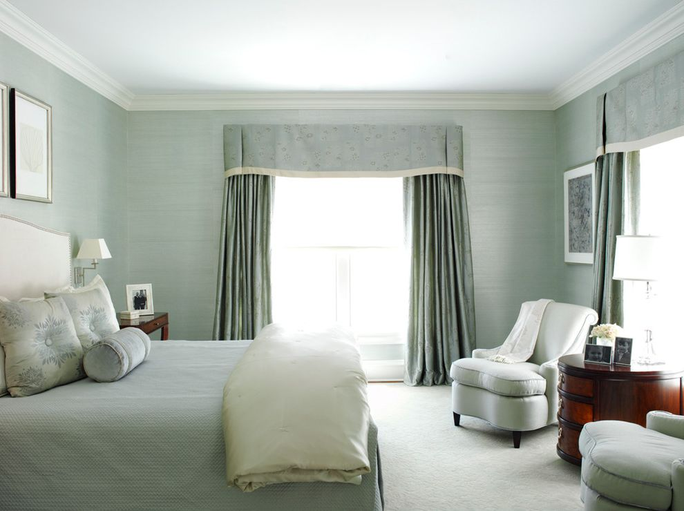 Valences for Transitional Bedroom and Relaxing Blue