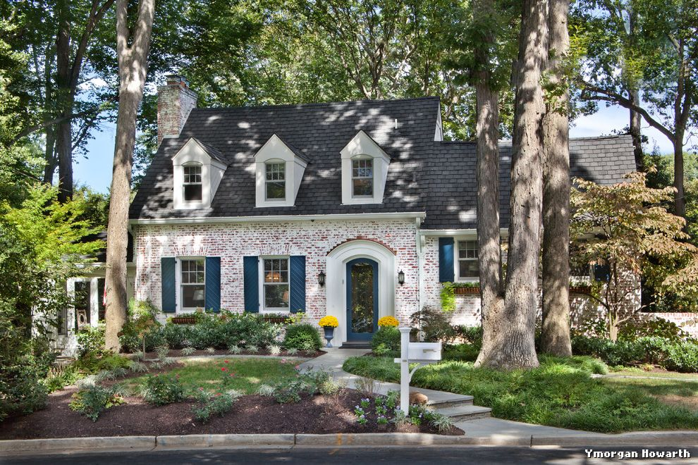 Whitewash Brick Exterior Traditional  for Traditional Exterior and Brick Exterior