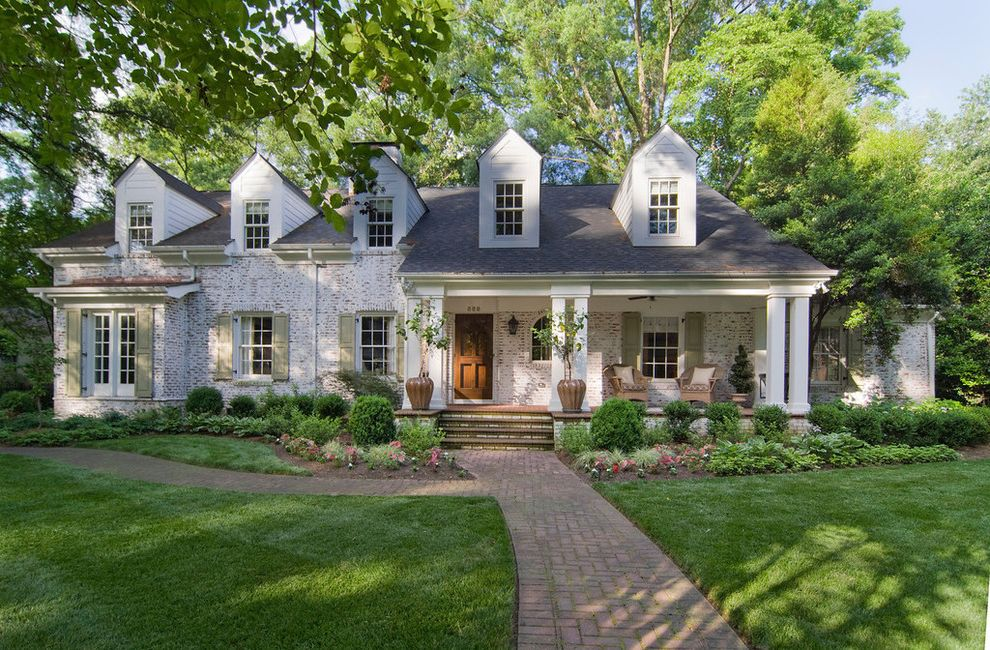 Whitewash Brick Exterior Traditional  for Traditional Exterior and Traditional