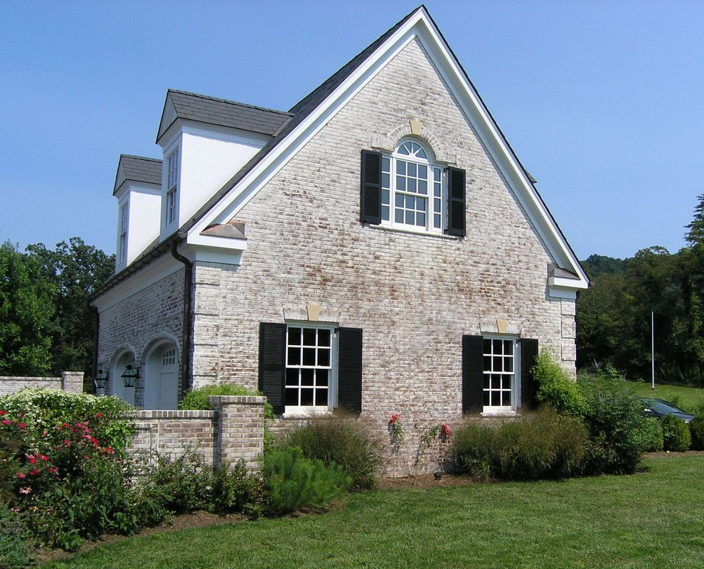 Whitewash Brick Exterior Traditional  for Traditional Shed and Brick Exterior