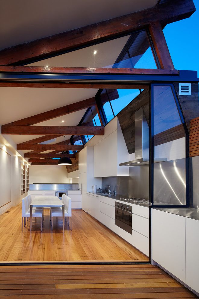Wooden Roof Industrial Kitchen  for Industrial Kitchen and Wood Floor