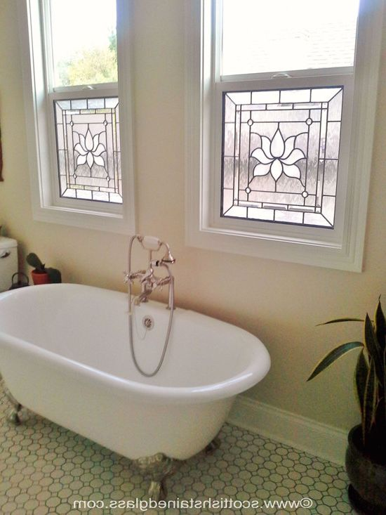 Bathroom Stained Glass Windows for Privacy How to Add Value to Your Home for Modern Bathroom Bath Photos Exterior Window Shades Photos