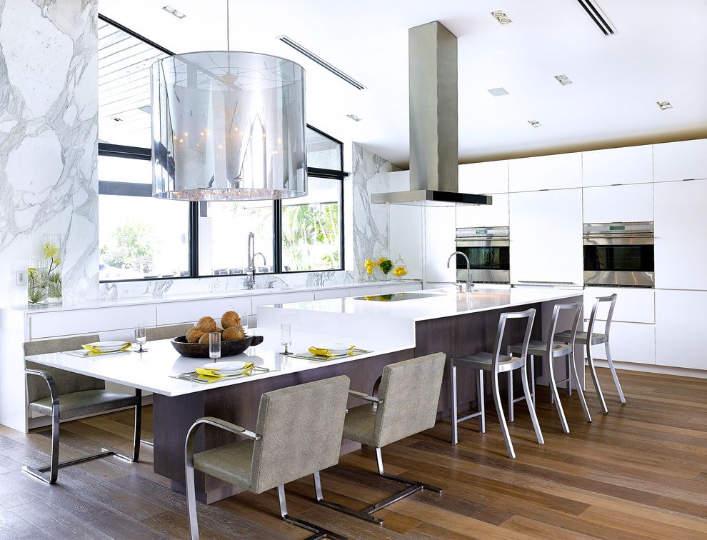 Bayview Residence Kitchen Layouts with Island for Contemporary Kitchen Kitchen Photos Blue Kitchens