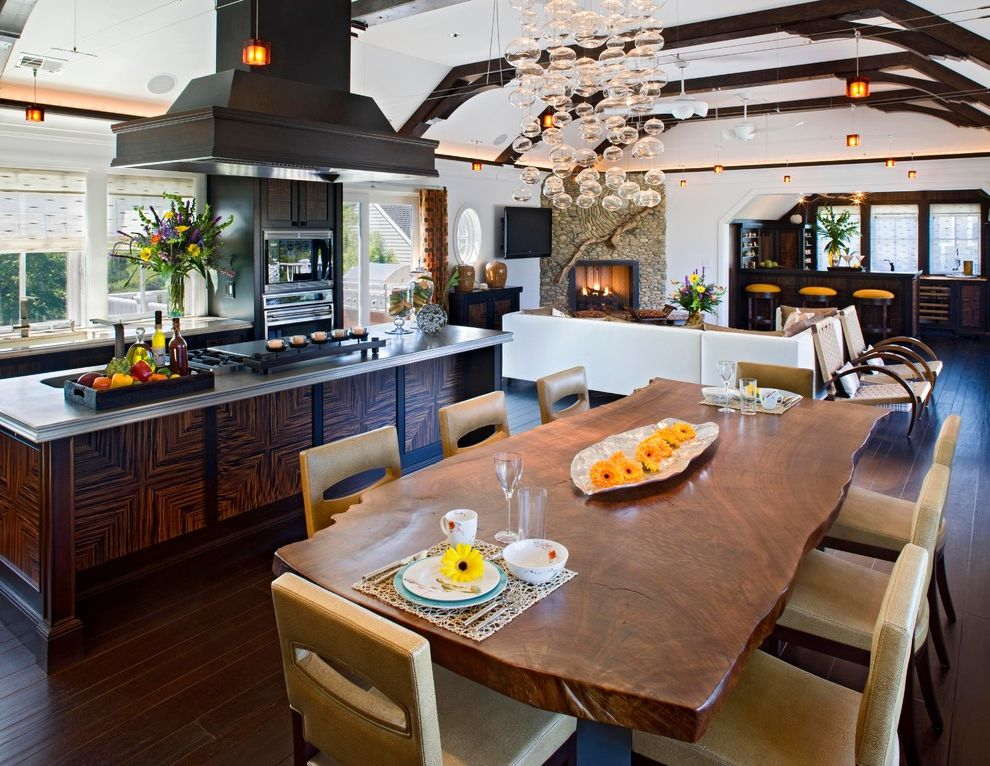 Beach House Ii How to Clean Wood Table for Contemporary Dining Room Dining Photos Home Stagers