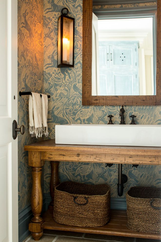 Beechwood & Llewellyn How to Make Rose Oil for Traditional Powder Room Bath Photos Brown Powder Rooms