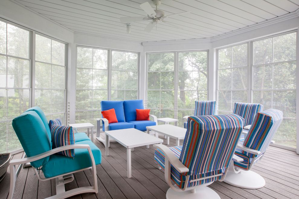 Blue Star Lake House Watch House Hunters Online Free for Beach Style Porch Outdoor Photos Gray Porches