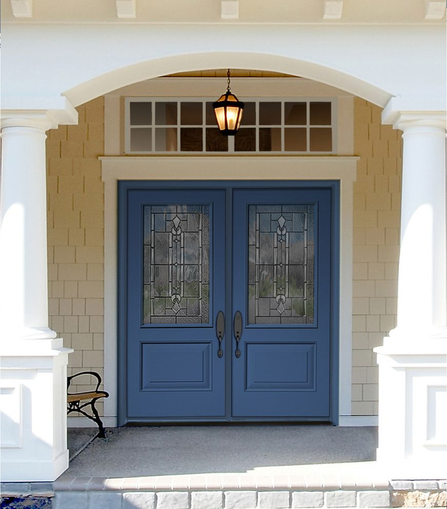 Classic Craft Canvas Doors Painted Blueberry Hill How to Paint a Front Door for Traditional Entry Entry Photos Sand Dune Traditional