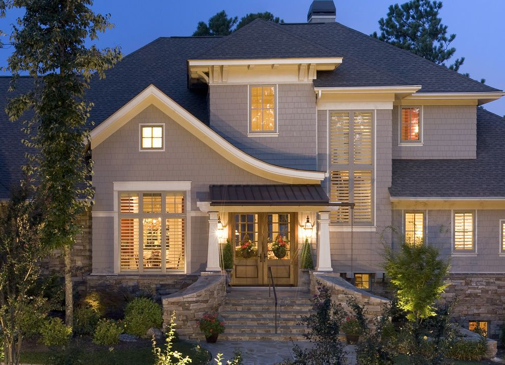 Cliffs Valley, Bowles Residence Popular Exterior House Colors for Traditional Exterior Exterior Photos Modern Roof Ideas