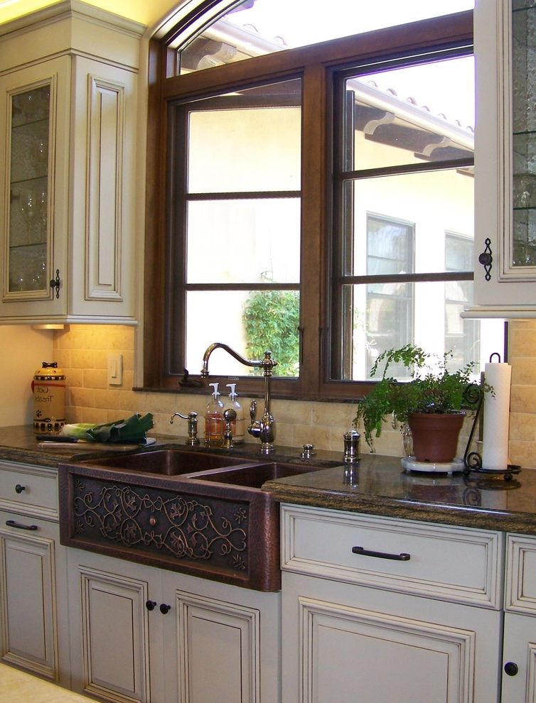 Copper Farmhouse Sink Design How to Remove Cabinets for Traditional Kitchen Kitchen Photos Large Kitchens
