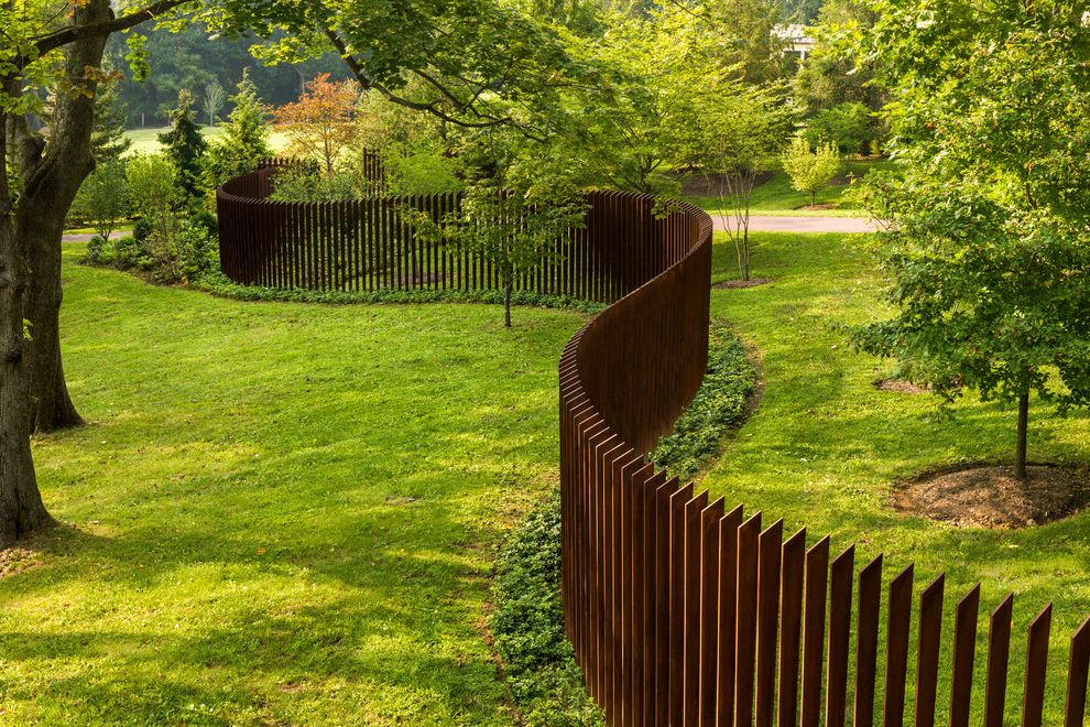 Cor Ten Cattails Sculptural Fence My Lottery Dream Home for Contemporary Landscape Outdoor Photos Exterior House Colors Contemporary