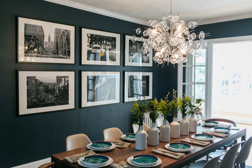 Courtney & Jamie's Rowhouse Living Room Dining Room Combo for Eclectic Dining Room Dining Photos Lighting Companies and Designers
