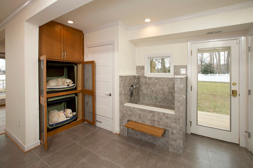 Dog Friendly Remodel How to Remove Cabinets for Transitional Laundry Room Laundry Photos Kitchen and Bathroom Designers