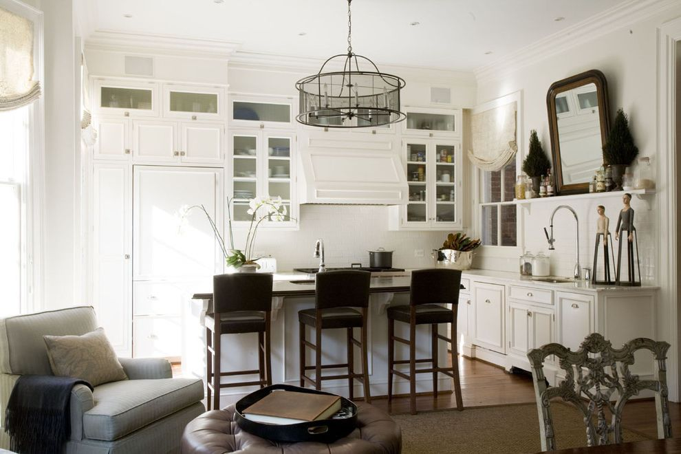 Georgetwon House How Much Does a Refrigerator Weigh for Traditional Kitchen Kitchen Photos Plumbers