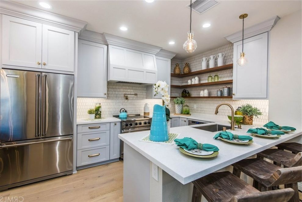 Hgtv Flip or Flop Project | Contemporary Coastal in Newport Beach Hgtv Com Flip or Flop for Beach Style Kitchen Kitchen Photos Tile and Countertop Contractors