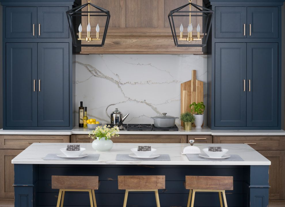 Hickory & Blue Modern Farmhouse Kitchen Packed with Storage Kitchen Color Trends 2017 for Farmhouse Kitchen Kitchen Photos Kitchen and Bathroom Designers