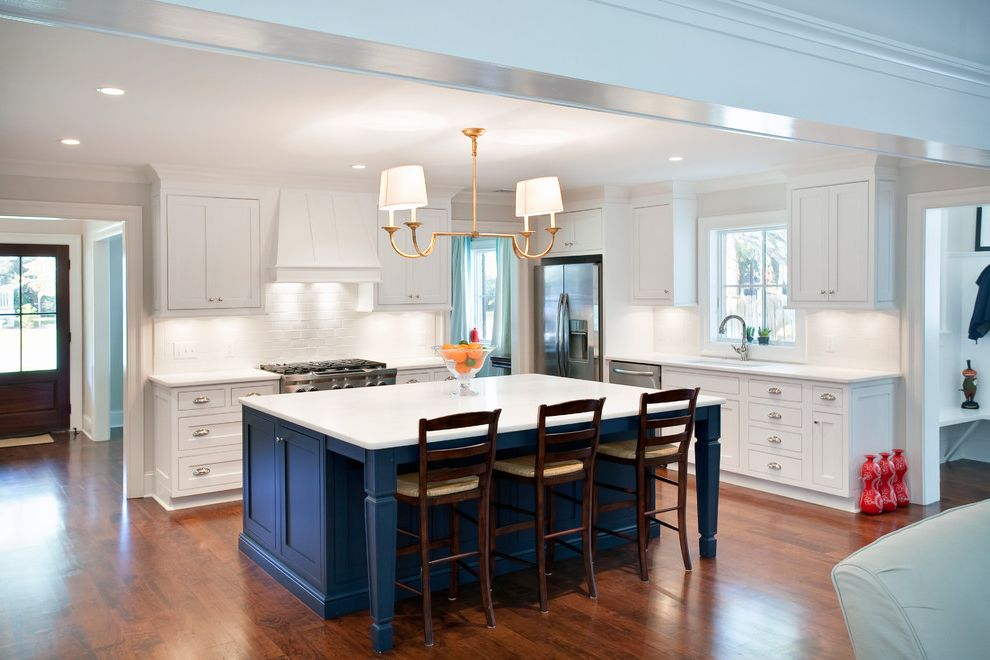 Interiors Blue and White Kitchen for Traditional Kitchen Kitchen Photos Stone Cleaners