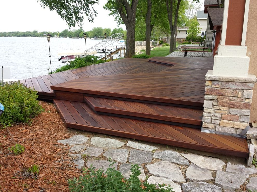 Ipe Decking Spicer, MN How to Stain a Deck for Transitional Deck Outdoor Photos Gray Decks