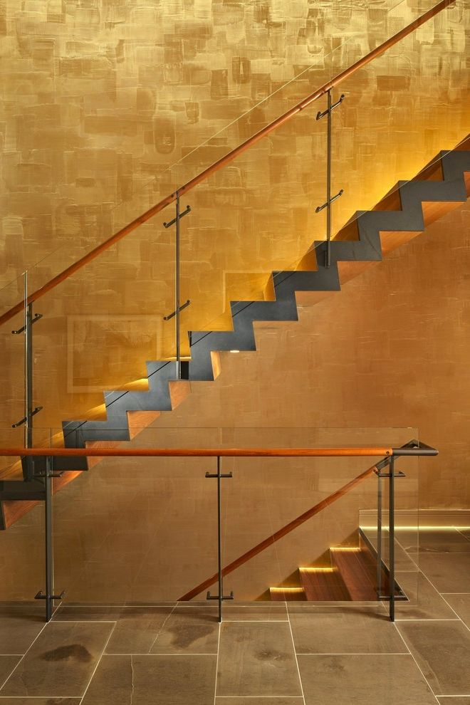 Lake House Two   Stair How Much Does It Cost to Finish a Basement for Modern Staircase Staircase Photos Modern Staircases